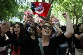 Turks protest